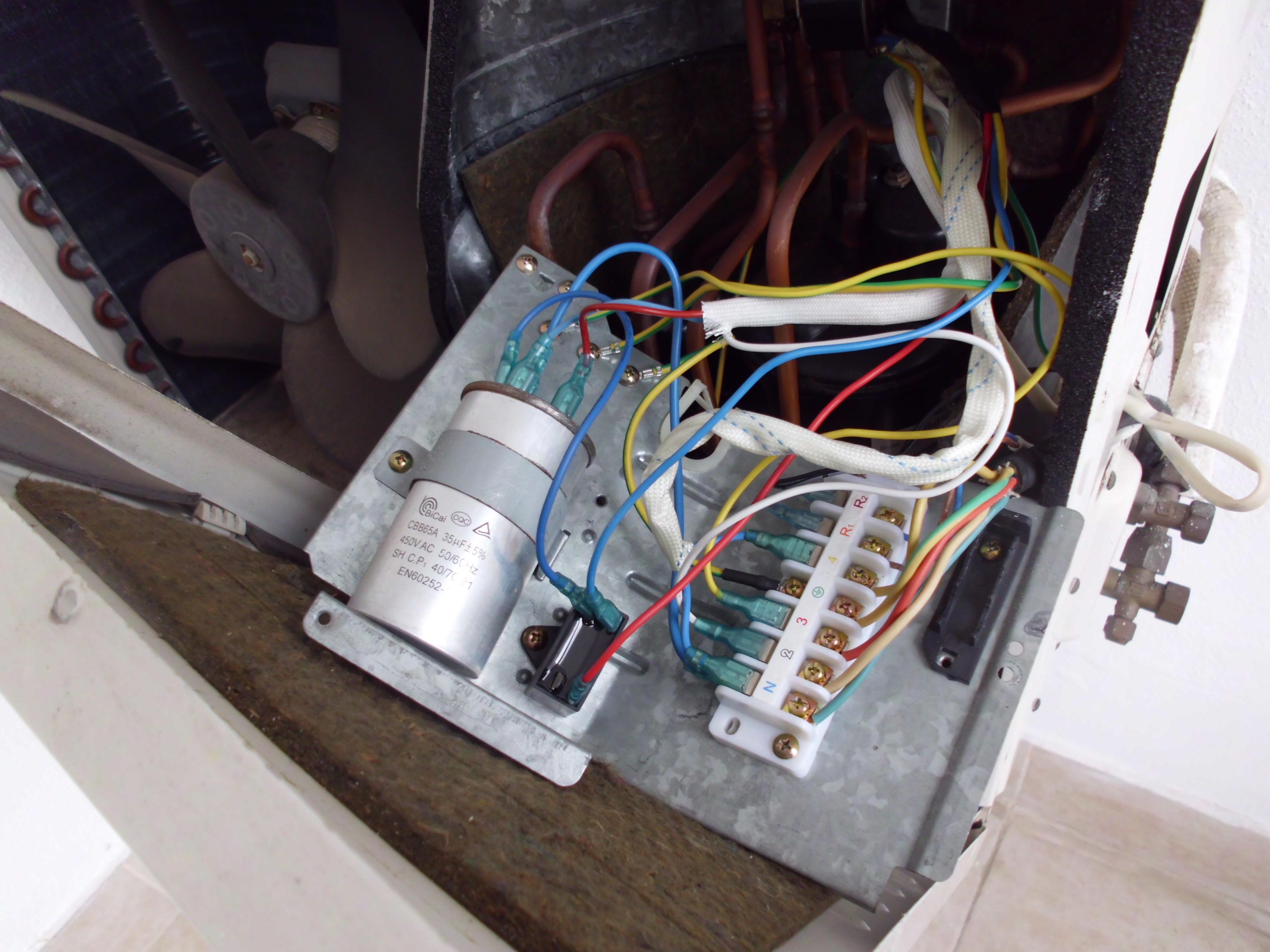 Condensador de arranque aire acondicionado